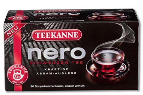 Teekanne Nero Schwarzer Tee kräftige Assam Auslese Stark 20 Beutel
