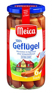 Meica Geflügel-Würstchen, 6Stück, 180g
