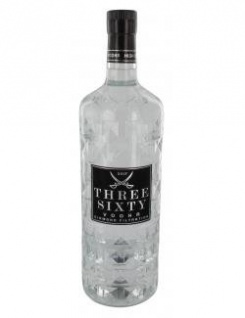 Three Sixty Vodka 4-fache Destillation 700ml Alkoholgehalt 37, 5%