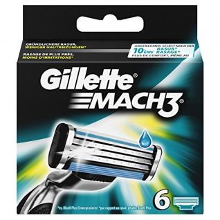 Gillette Mach3 Rasierklingen für Männer, 1er Pack (1 x 6 Stück)
