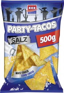 XOX Party Tacos Salz knusprige leckere Maischips mit Salz 500g