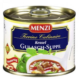 Menzi Kesselgulaschsuppe konzentriert 200ml, 3er Pack Dosengericht