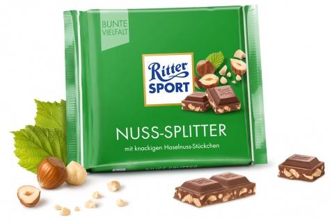 Ritter Sport Nuss Splitter mit knackigen Haselnuss Stückchen 100g