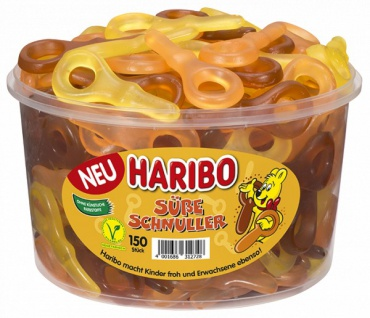 Haribo Süße Schnuller Fruchtgummi, teilweise mit Cola-Geschmack 1350g