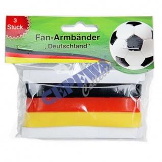 Cepewa Fussball WM Fan Armbaender Deutschland Flagge 3er Farb Set - Vorschau