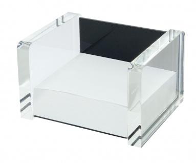 WEDO Acryl Zettelbox Acryl Exklusiv Glasklar Schwarz 116 x 99 x 75mm