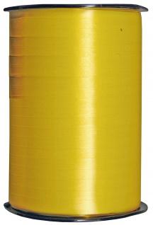 Kraeuselband glatt gelb 500 m