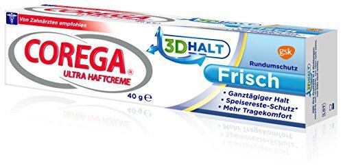 Corega Ultra Haftcreme Frisch, 40 g, 2-er Pack (2 x 40 g)