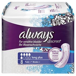 always Discreet Binden Long Plus, 1er Pack (1 x 8 Stück)