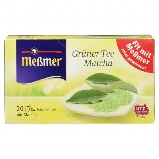 Meßmer Grüner Tee mit Matcha natürlich genießen 20 Teebeutel
