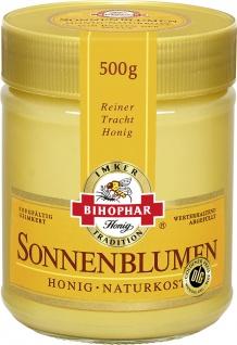 Bihophar Sonnenblumen Honig cremig ein reiner Tracht Honig 500g