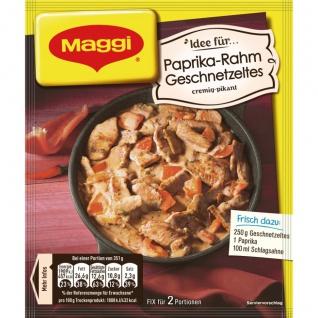 Maggi Fix für Paprika Rahm Geschnetzeltes cremig und pikant 43g