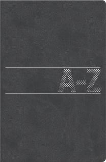 Adressbuch A-Z Register schwarz