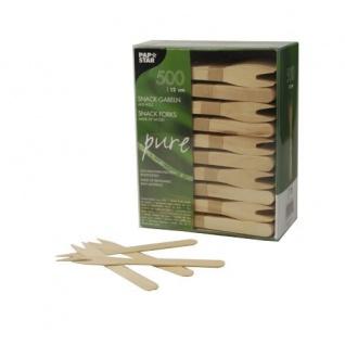 Einweg Snack Gabeln aus Holz von Papstar Serie Pure 500 Stück