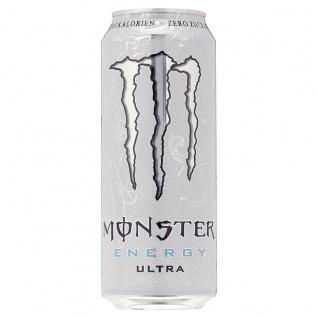 Monster Energy Ultra White Koffeinhaltiges Erfrischungsgetränk 500ml