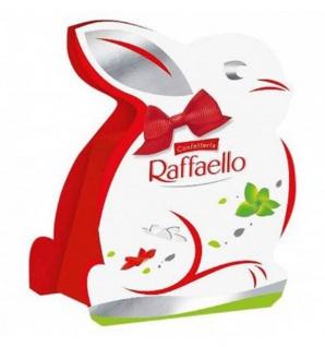 Ferrero Raffaello Osterhäschen mit Dekorschleife und Pralinen 40g