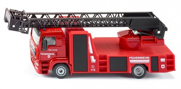 SIKU MAN Feuerwehr Drehleiter