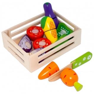 Tanner Kinder Kaufladen Gemüse in Holzsteige für die Spielküche