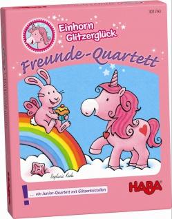 Einhorn Glitzerglück Freunde Quartett
