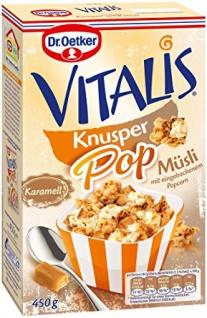 Dr. Oetker Vitalis Knusper Pop Karamell