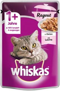 Whiskas Katzenfutter Nassfutter Ragout Adult 1+ mit Lachs in Gelee 85g