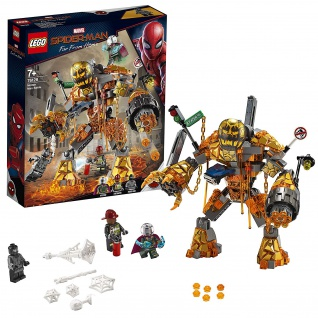 LEGO Marvel Spider Man Far From Home Duell mit Molten Man Bauset