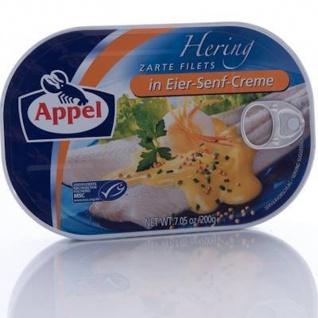 Appel Heringsfilets in klassischer feinwürzigen Eier Senf Creme 200g