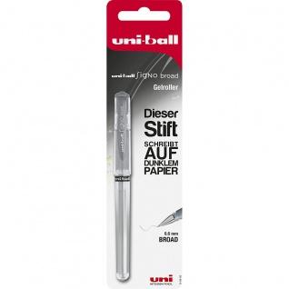 Faber Castell Uni Ball Signo Broad Gelroller Gelschreiber Silber