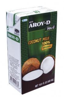 Kokosmilch Aroy-D natürliche Kokusmilch zum Backen und Kochen 500ml 8erPack