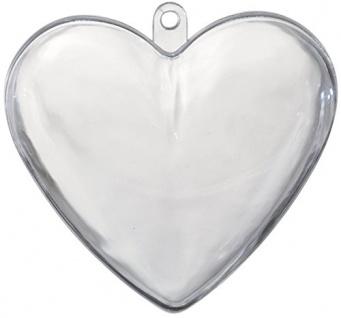 Herz aus Hartplastik schöne Geschenkidee zum selbst befüllen 10cm