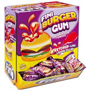 Bubble Gum Kaugummi Burger mit Flüssiger Füllung 200 Stück Display