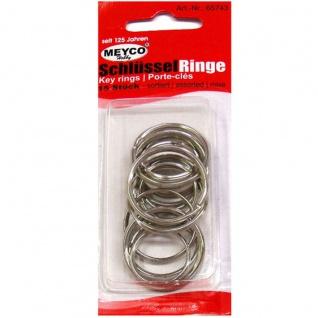 Meyco Schlüssel Ringe in verschiedene größen 15 Stück enthalten