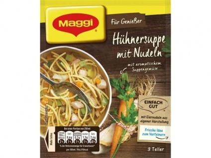 Maggi für Genießer Hühner Suppe mit viel Nudeln und Gemüse 44g