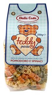 Dalla Costa Teddy Nudeln Spezialitäten mit Tomate und Spinat 250g