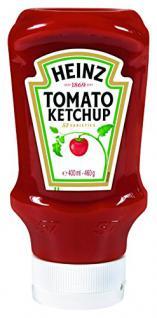Heinz Tomato Ketchup, Kopfsteher-Squeezeflasche, 5er Pack (5 x 400 ml)