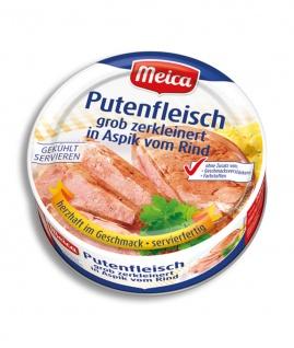Meica Putenfleisch grob zerkleinert in Aspik vom Rind 200g 6er Pack
