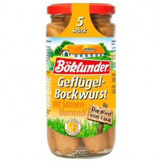 Böklunder Geflügel Bockwurst extra Zart mit Sonnenblumenöl 5 St. 250g
