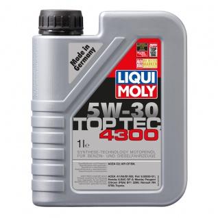 Liqui Moly Top Tec 4300 5W 30 Premium Hightech Leichtlaufmotoröl 1L
