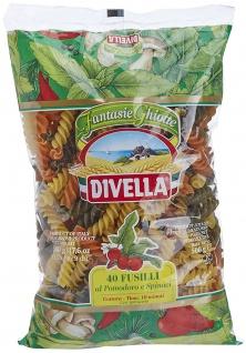Divella 40 Fusilli al Pomodore e Spinaci spiralförmige Pasta 500g