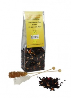 Sternzeichen Tee Widder mit Kandiszucker Erdbeer Sahne Tee 100g