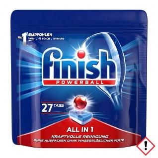 Finish Powerball Alles in 1 Spülmaschinentabs Turbo 27er Packung