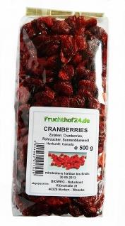 Cranberries von Insula leicht mit Rohrzucker gesüßt Müsli 500g