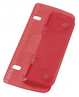 WEDO Taschenlocher Kunststoff Abheften 8cm Lochung mit 12cm Skala Rot