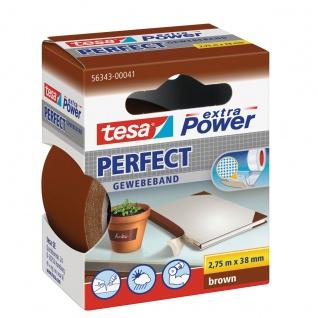 Tesa extra Power Perfect Gewebeklebeband beschriftbar reißfest braun