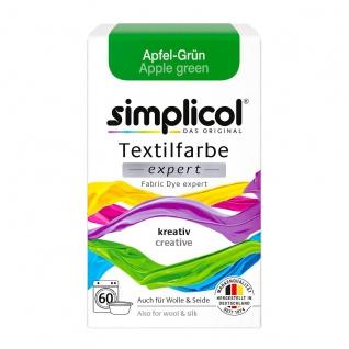 Simplicol Textilfarbe expert für kreatives Färben Apfel Grün