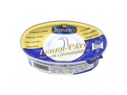 Jensens Gänse Pate Pastete mit Gänsefleisch und Gänseleber 80g