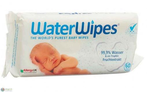 Water Wipes Baby Feuchttücher antibakterielle Wirkung 60Stück