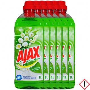 Ajax Allzweckreiniger Frühlingsblumen natürliche Frische 1000ml 6er