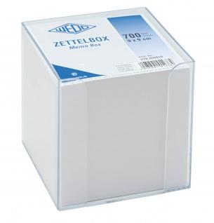 WEDO Zettelbox aus Kunststoff gefüllt circa 700 Blatt 95 x 95mm