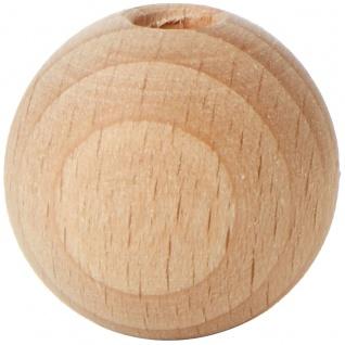 Rohholzkugeln Hartholz Basteln gebohrt Durchmesser 25mm 8 Stück